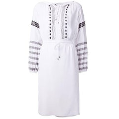 Altuzarra White Silk Embroidered Dress
