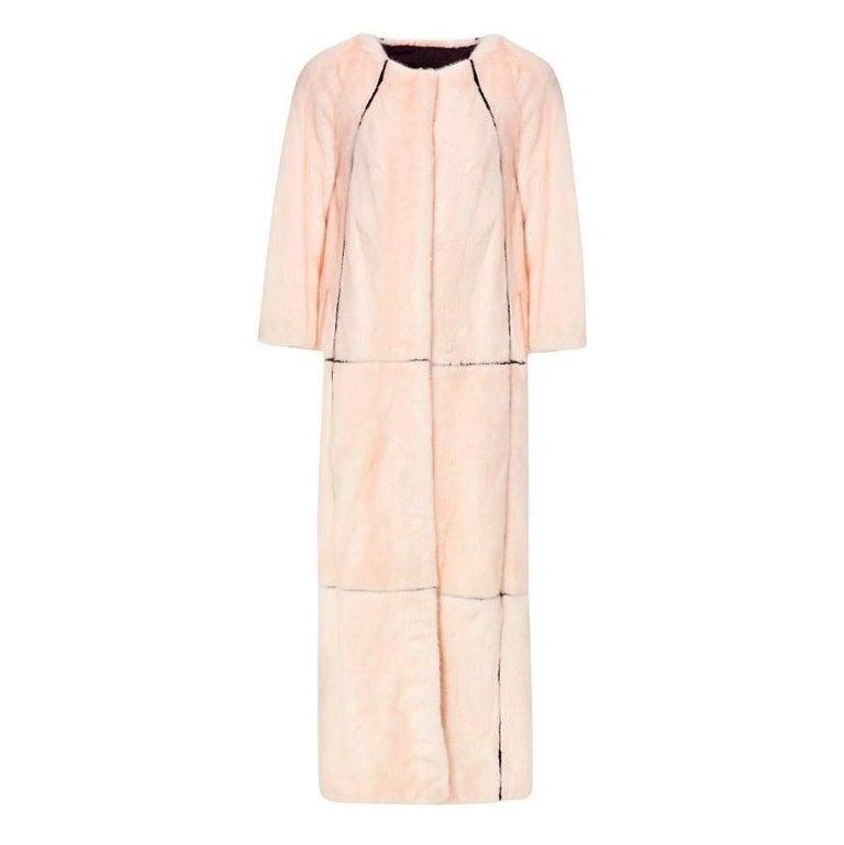 PA5H Pink Mink Fur Coat