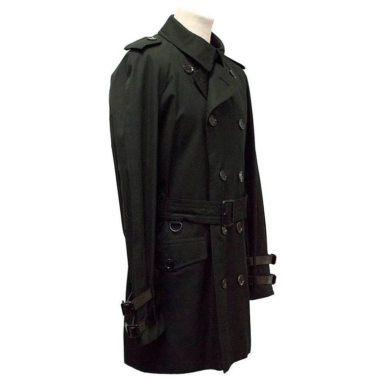burberry black trench coat for sale at 1stdibs. Black Bedroom Furniture Sets. Home Design Ideas