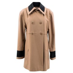 Chanel Tan Wool Coat