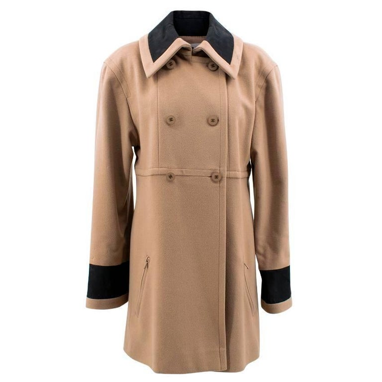 Chanel Tan Wool Coat For Sale