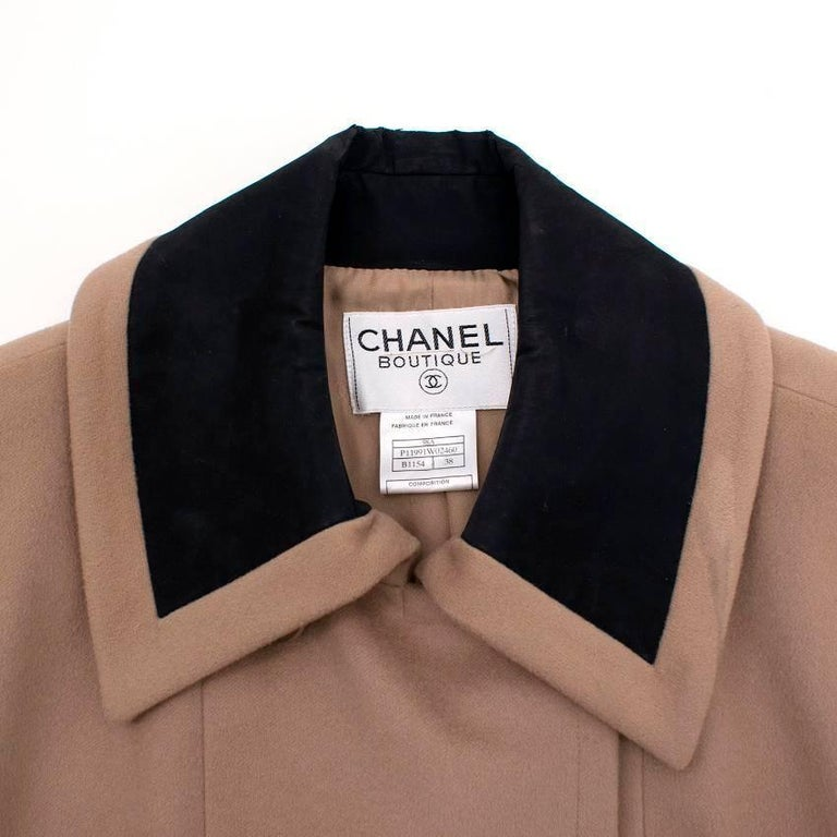 Chanel Tan Wool Coat For Sale 2
