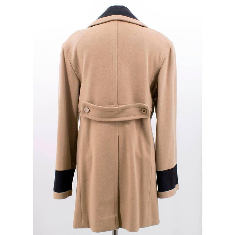 Chanel Tan Wool Coat In Excellent Condition For Sale In London, GB