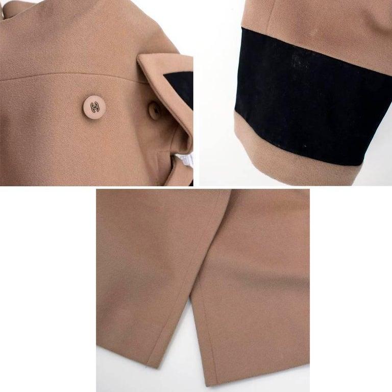 Chanel Tan Wool Coat For Sale 3