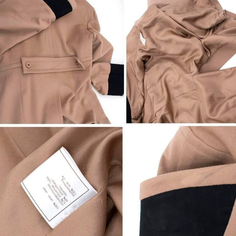 Chanel Tan Wool Coat For Sale 5