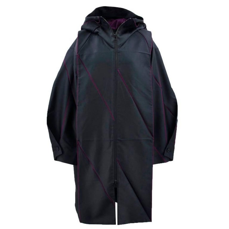 Issey Miyake Hooded Coat For Sale