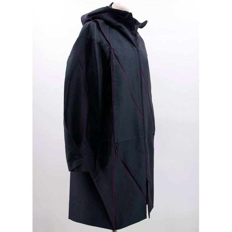 Issey Miyake Hooded Coat In New Condition For Sale In London, GB