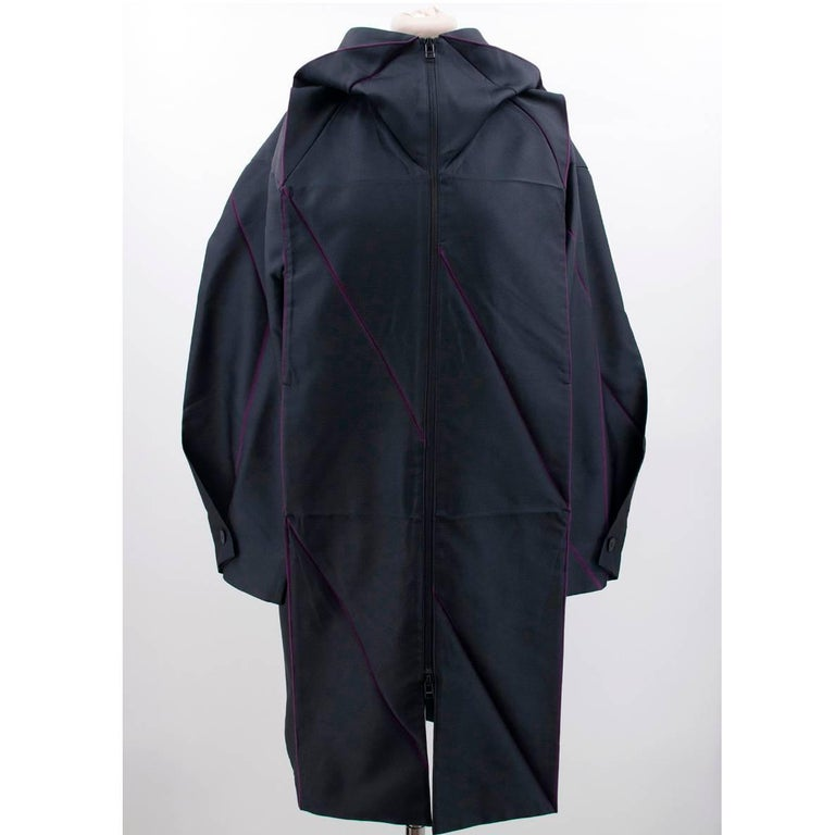 Issey Miyake Hooded Coat For Sale 2