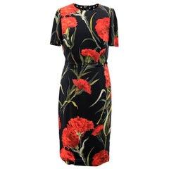 Dolce & Gabbana Black Floral Midi Dress