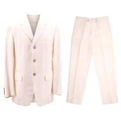 Prada Cream Linen Suit