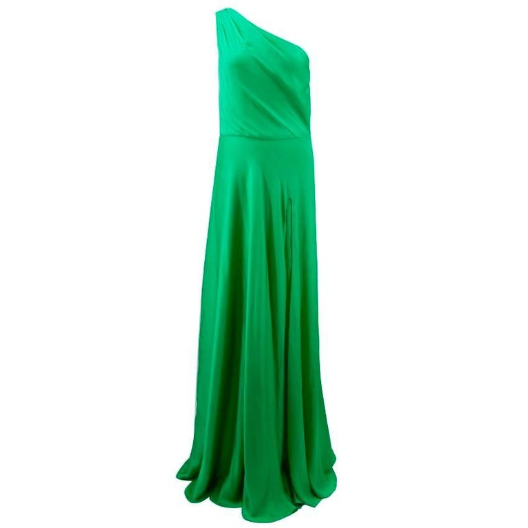 Ralph Lauren Green Black Label Gown For Sale at 1stdibs