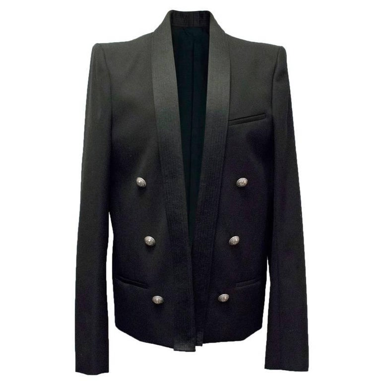 Balmain Black Blazer Jacket For Sale