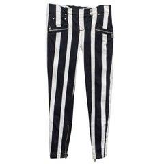 Stripped Balmain Skinny Jeans