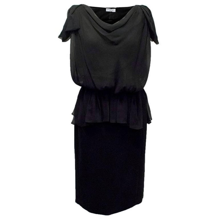 Vionnet Black Dress
