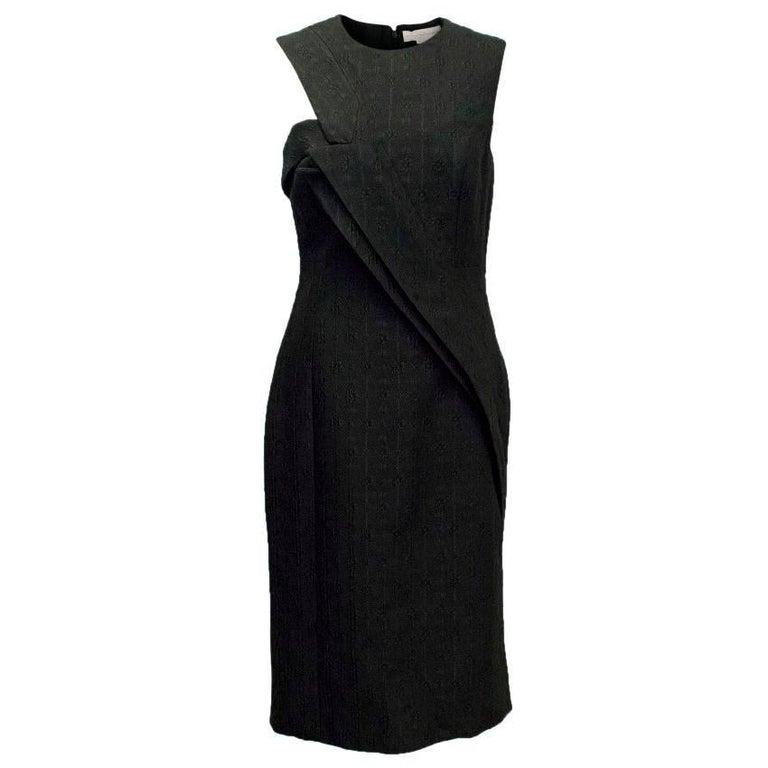 Stella McCartney Black Textured Midi Dress