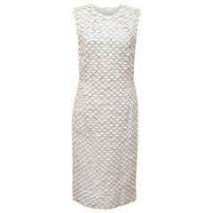 Stella McCartney White Fish Scale Midi Dress