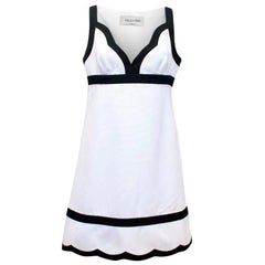 Valentino White and Black A-Line Midi Dress