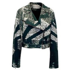 Mary Katrantzou Black and Cream Print Jacket