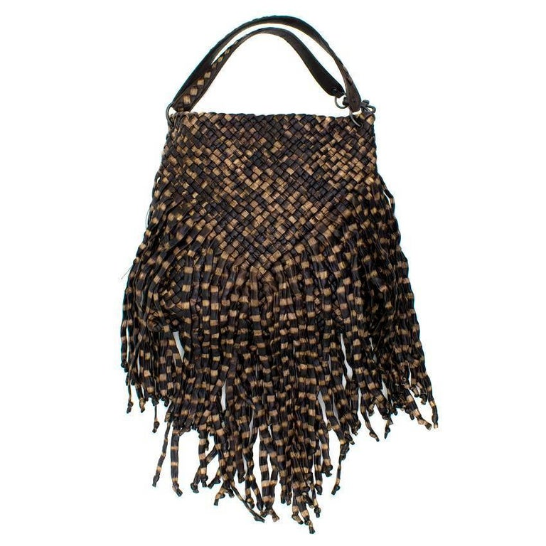 Bottega Veneta Brown Leather Fringe Bag  1