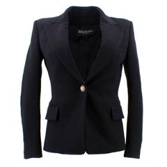 Balmain Black Single Breasted Blazer Jacket
