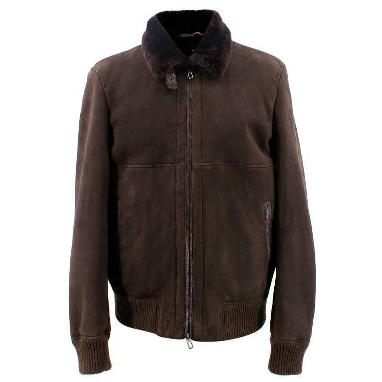 Lora Piana Dark Brown Sheepskin jacket