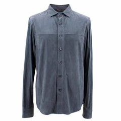 Loro Piana Blue Leather Shirt M
