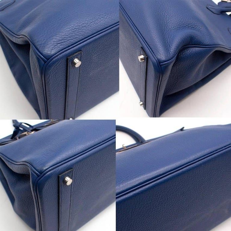 Hermes Blue De Prusse Togo Leather Birkin 40cm For Sale 1