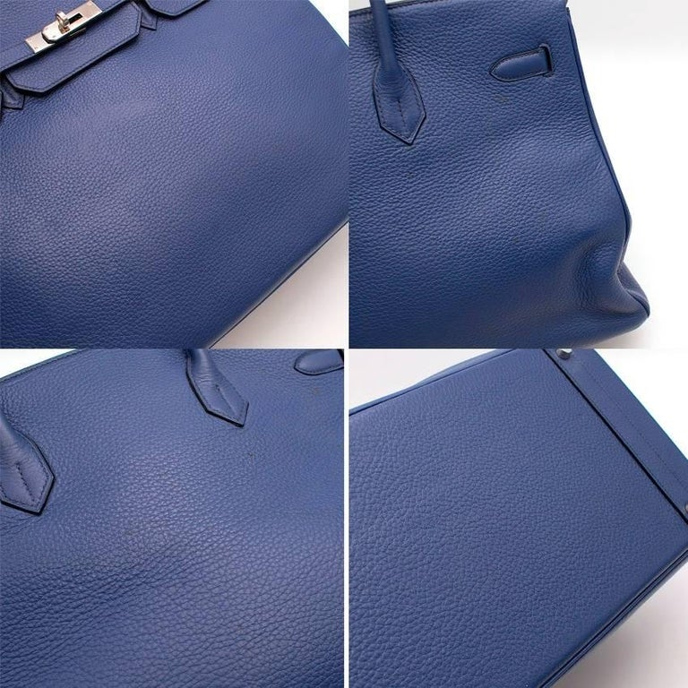 Women's Hermes Blue De Prusse Togo Leather Birkin 40cm For Sale