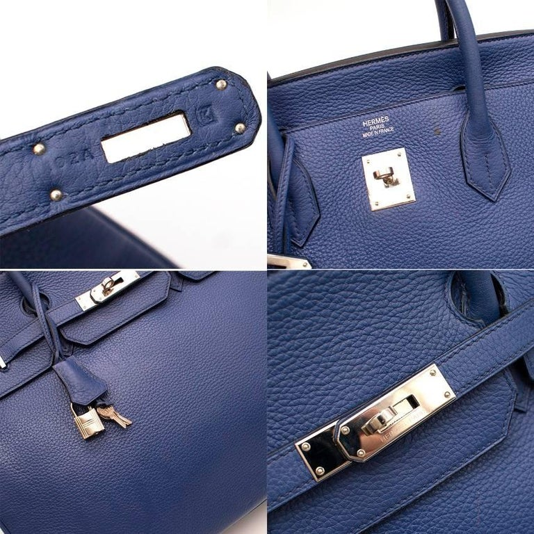 Hermes Blue De Prusse Togo Leather Birkin 40cm In Excellent Condition For Sale In London, GB