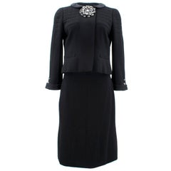 Chanel Jacket and Skirt Suit with embellished brooch