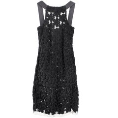 Chanel lace dress with stitched flower details