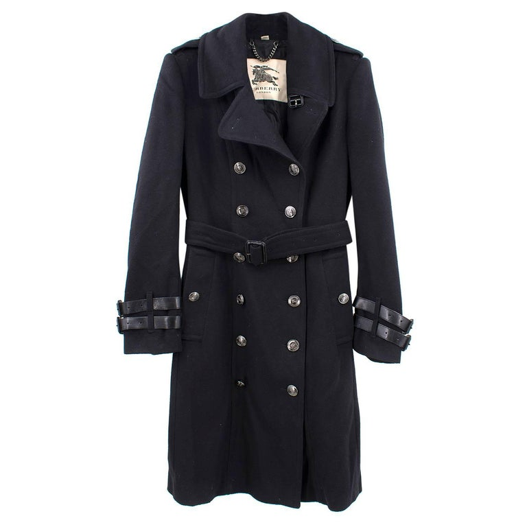 Burberry Long Cashmere Blend Trench Coat (US 10/L)