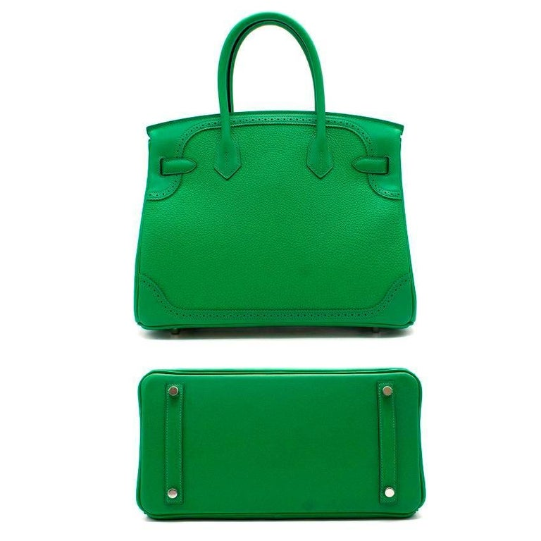 Hermes Bamboo Togo 30CM Ghillies Birkin Bag For Sale 3