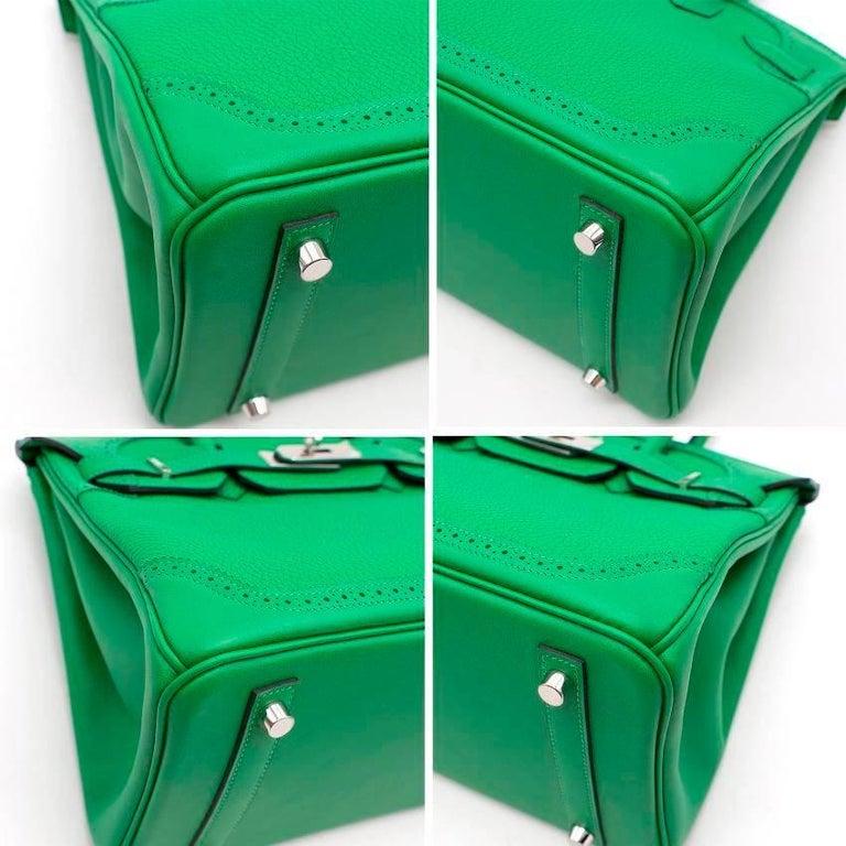 Hermes Bamboo Togo 30CM Ghillies Birkin Bag For Sale 2