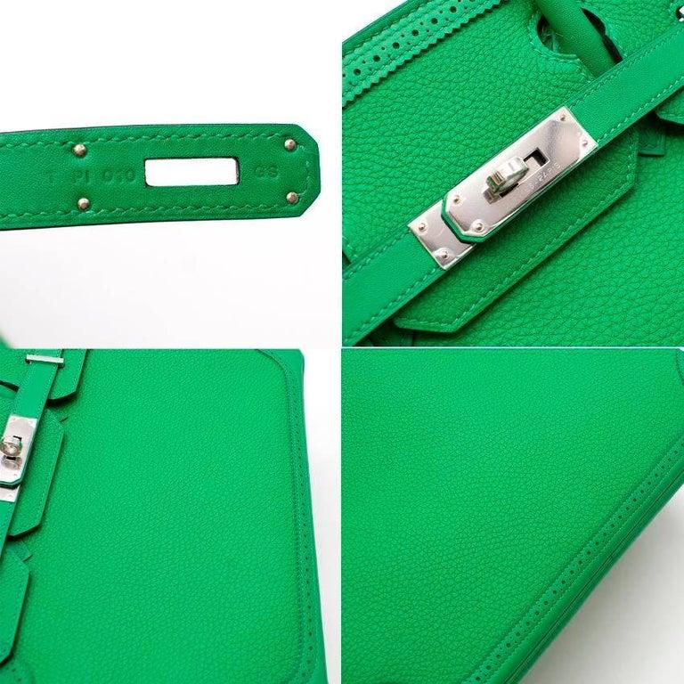 Hermes Bamboo Togo 30CM Ghillies Birkin Bag For Sale 1