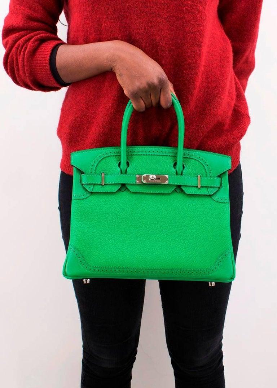 Women's Hermes Bamboo Togo 30CM Ghillies Birkin Bag For Sale