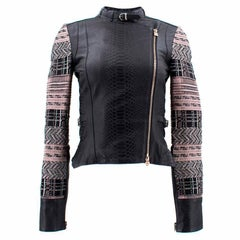 Herve Leger Black Lamb Leather Jacket (Size: US 4/XS)