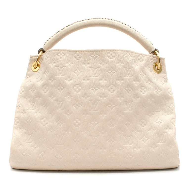 Louis Vuitton White Monogram Leather Hobo Bag For Sale At 1stdibs