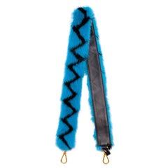 Prada Zig Zag Fur Bag Strap