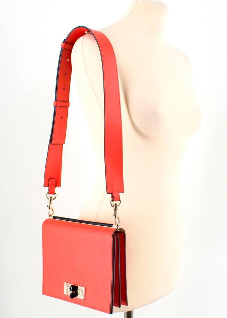 34ad889661f1 Red Giorgio Armani Current Collection Smooth Leather Crossbody Bag For Sale