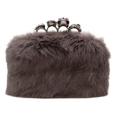 Alexander McQueen Mink Fur Knuckle Duster Clutch