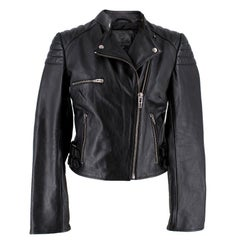 Alexander McQueen Black Leather Jacket Size 2