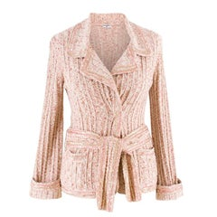 Chanel Cream & Pink Tweed Cardigan