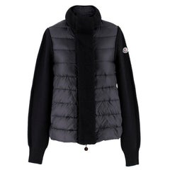 Moncler SS18 Black Knit & Down Jacket Size 8