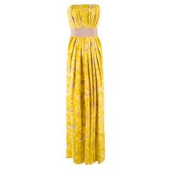 Carolina Herrera Floral Strapless Silk Gown Size 2