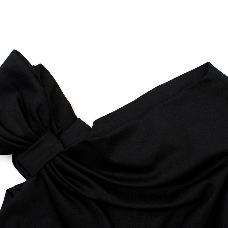 ac23b7c758a64 Valentino Schwarze Schleife Schulter Wolle Mischkleid Größe 10 im Angebot  bei 1stdibs
