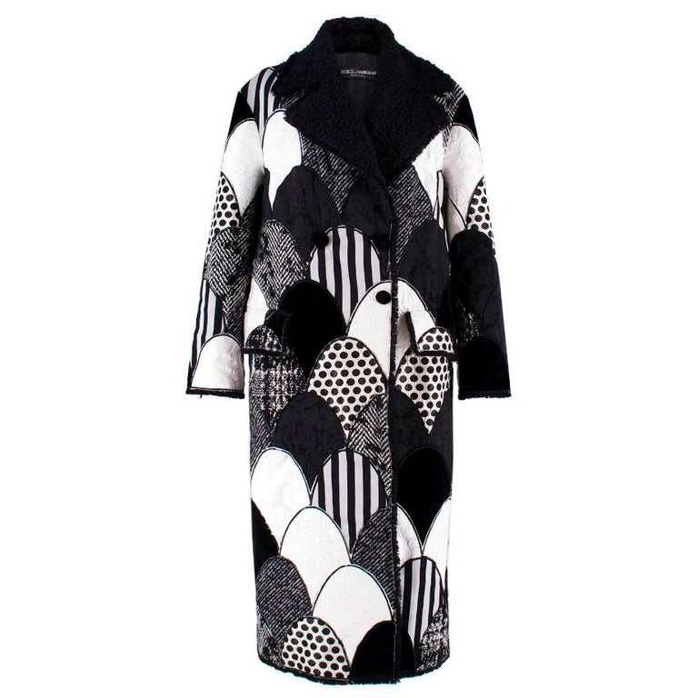 Dolce & Gabbana Patchwork Printed Coat  For Sale