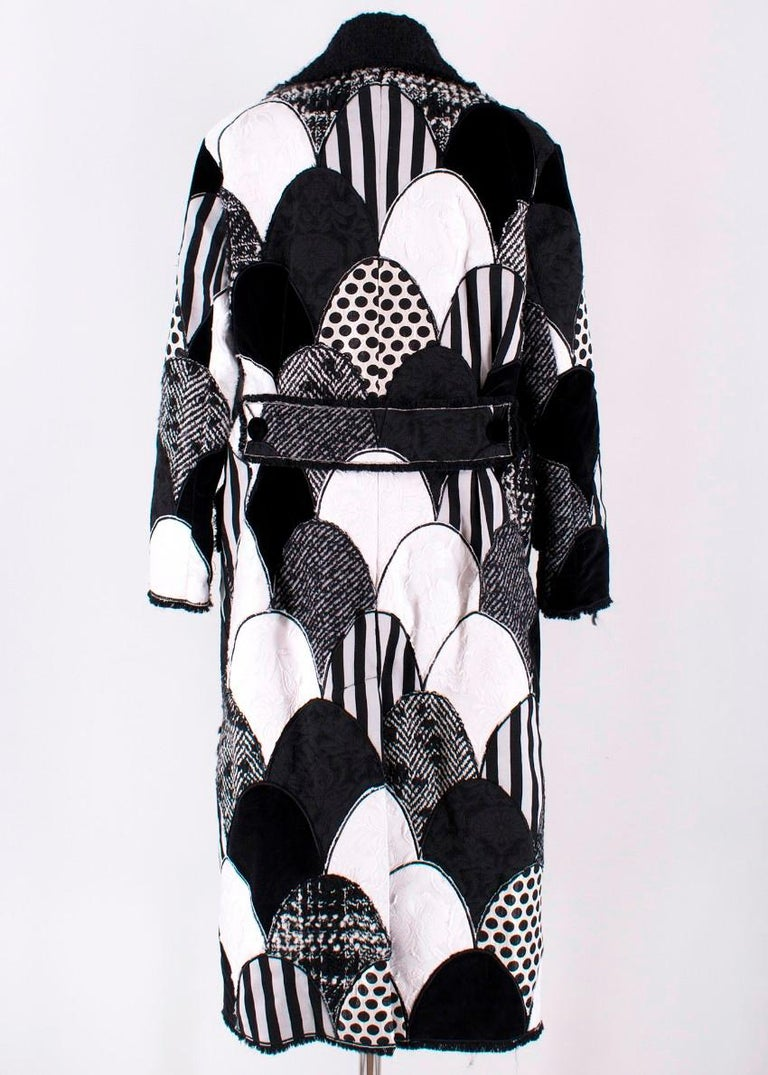 Women's Dolce & Gabbana Patchwork Printed Coat  For Sale