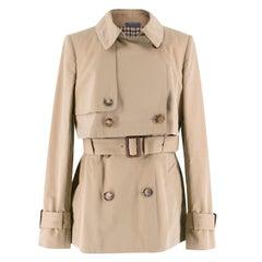 Alexander McQueen Short Trench Coat Size 8