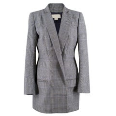 Antonio Berardi long wool houndstooth blazer